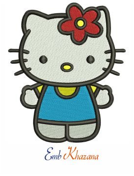 Hello Kitty Girl Embroidery Design