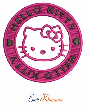 Hello Kitty Embroidery Pattern