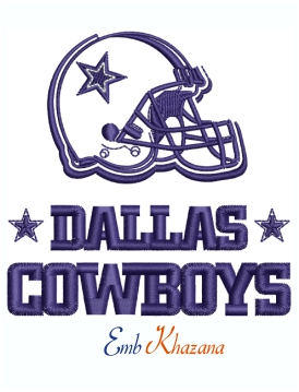 Dallas Cowboys Helmet Logo Machine Embroidery Design