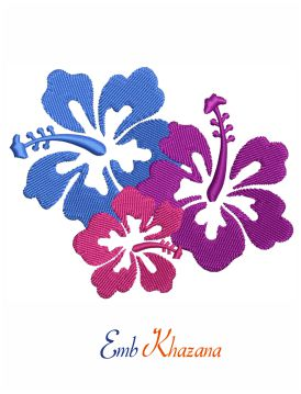 Hibiscus Floral embroidery design