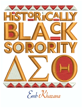 Historically Black Sorority Deltas Machine Embroidery Design