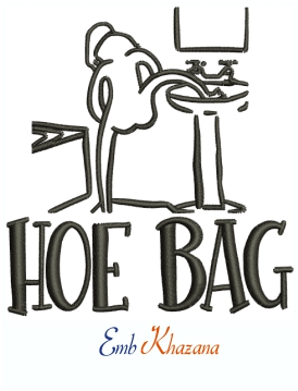 Hoe Bag Machine Embroidery Design
