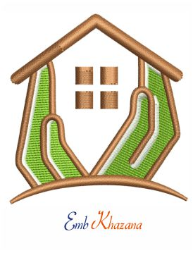 Home Builders logo embroidery design