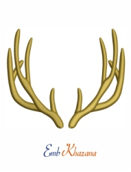 Horn Embroidery Pattern