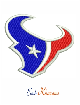 Houston Texans logo embroidery design