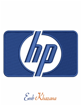 Hp logo Embroidery design