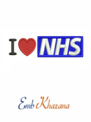 I love nhs embroidery design