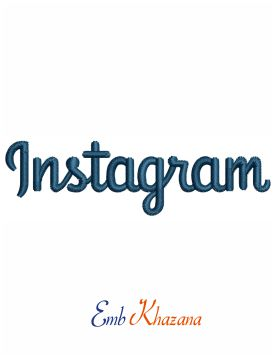 Instagram logo embroidery design