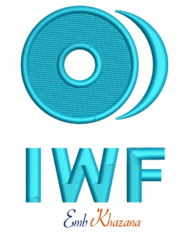 International Weightlifting Federation Logo embroidery design