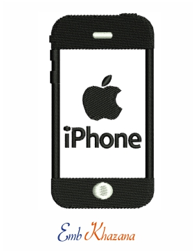 Iphone logo embroidery design