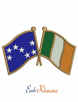 Ireland Starry plough flag embroidery design