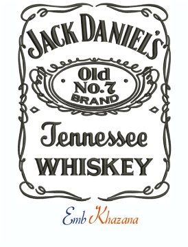 Jack Daniels Jennessee whiskey Machine Embroidery Design