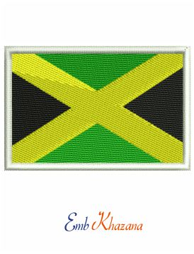 Jamaican Flag embroidery design