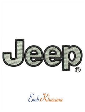 Jeep Logo Embroidery Pattern