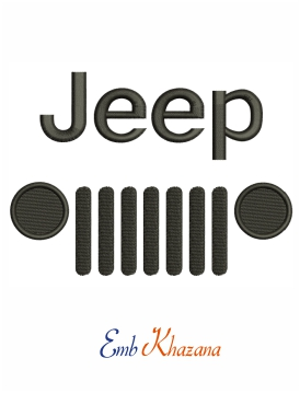 Jeep Logo embroidery design