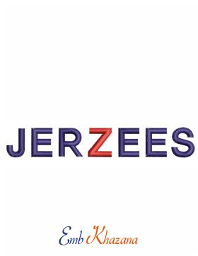Jerzees Logo Embroidery Design