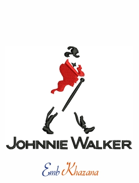 Johnnie Walker Logo Embroidery Design