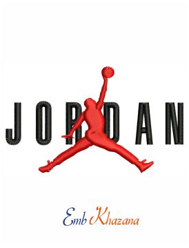 Jordan Logo embroidery design