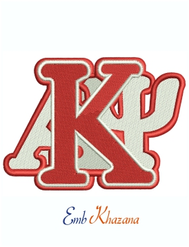 Kappa Alpha Psi Fraternity Stacked Machine Embroidery Design