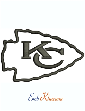 Kansas City Chiefs NFL Logo Machine Embroidery Design