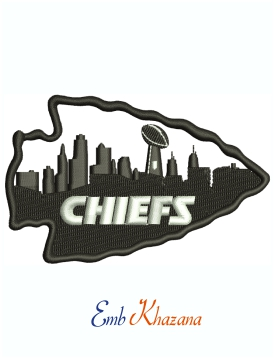 Kansas City Chiefs Logo And Symbol Machine Embroidery Design