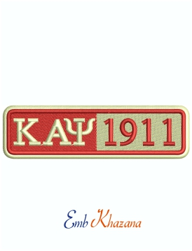 Kappa Alpha Psi 1911 Patches Machine Embroidery Design