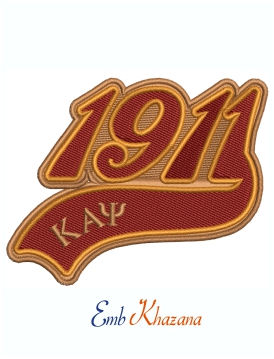 Kappa Alpha Psi 1911 Fraternity machine embroidery design