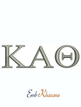 Kappa Alpha Theta Fraternity For Woman Machine Embroidery Design