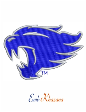 Kentucky Wildcats Basketball Logo Embroidery Design