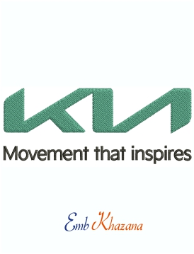 Kia Logo Movement That Inspires Machine Embroidery Design