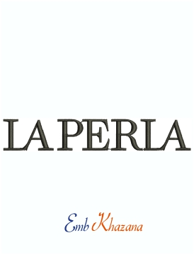 La Perla Logo Machine Embroidery Design