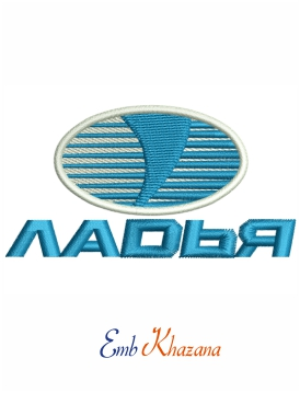 Ladya logo Embroidery design