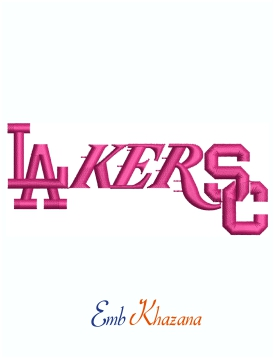 LA Lakers Dodgers Mashup Machine Embroidery Design