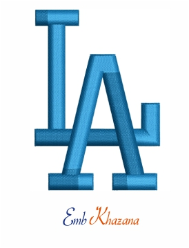 los angeles dodgers logo 3d puff