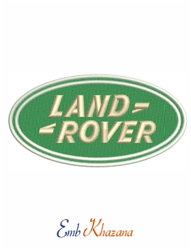 Land Rover Logo Embroidery Design