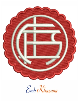 Lanus logo embroidery design