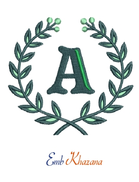 Laurel Wreath With A Letter