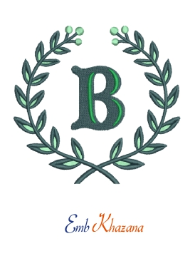 Laurel Wreath With B Letter