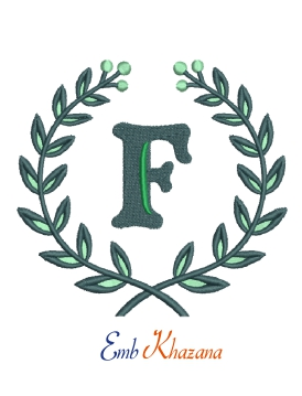 Laurel wreath with F letter