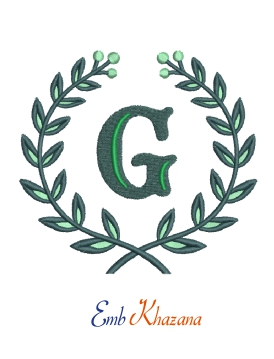 Laurel Wreath With G Letter