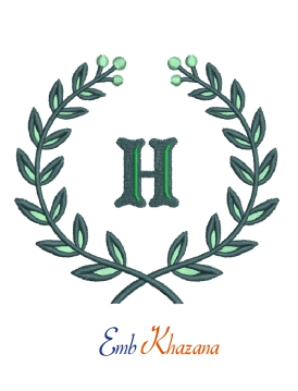 Laurel wreath with H letter