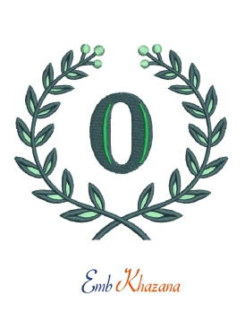 Laurel Wreath With O Letter