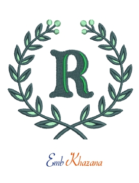 Laurel wreath with R letter