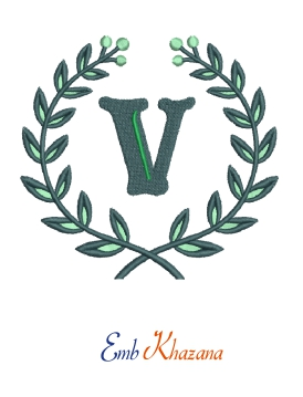 Laurel wreath with V letter