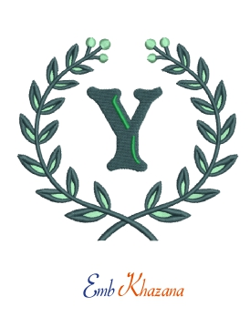 Laurel Wreath With Y Letter