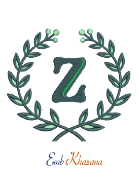 Laurel wreath with z letter