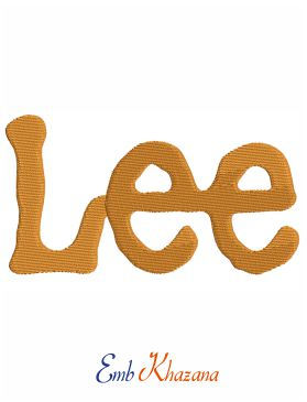 Lee Logo Embroidery Design