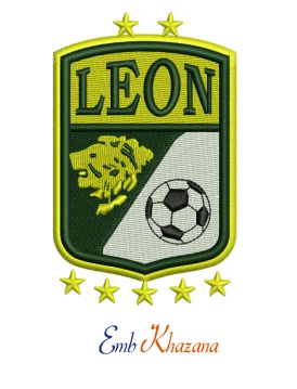 Leon Fc Logo Embroidery Design