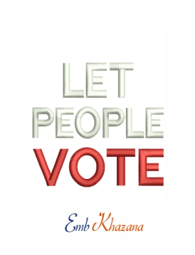 Let people vote machine embroidery design