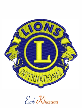 Lions International embroidery design